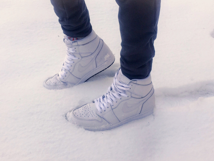 Air Jordan 1 High Perforated White