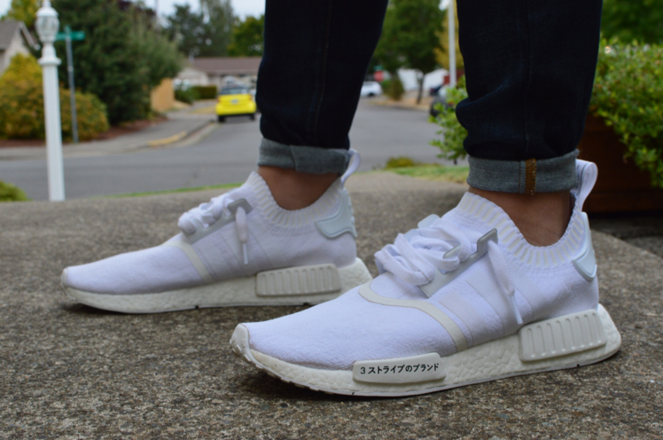 newest collection 9c180 fd93d adidas NMD R1 Primeknit Japan Triple White - KicksOnFire.com