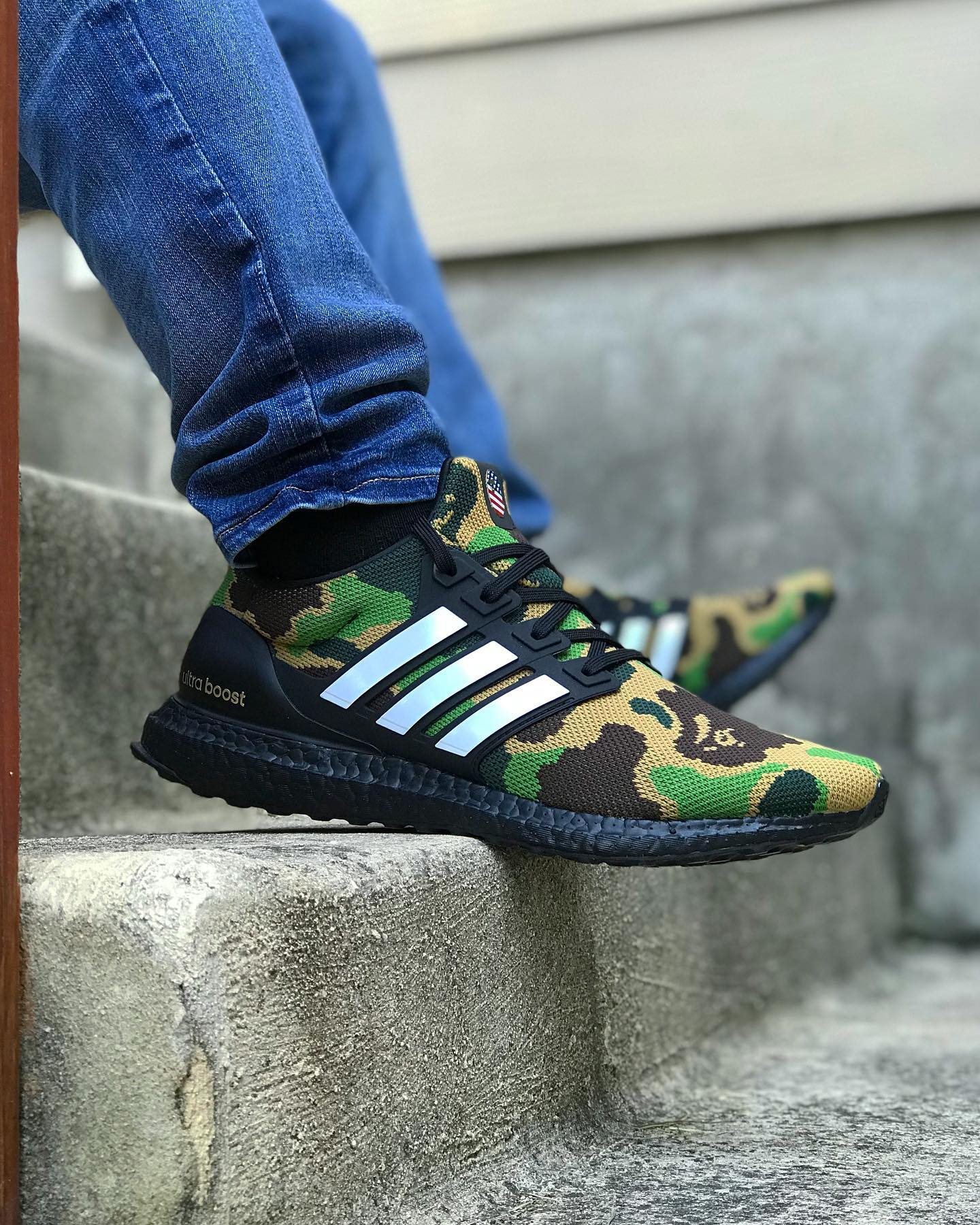 BAPE x adidas Ultra Boost Green Cam-