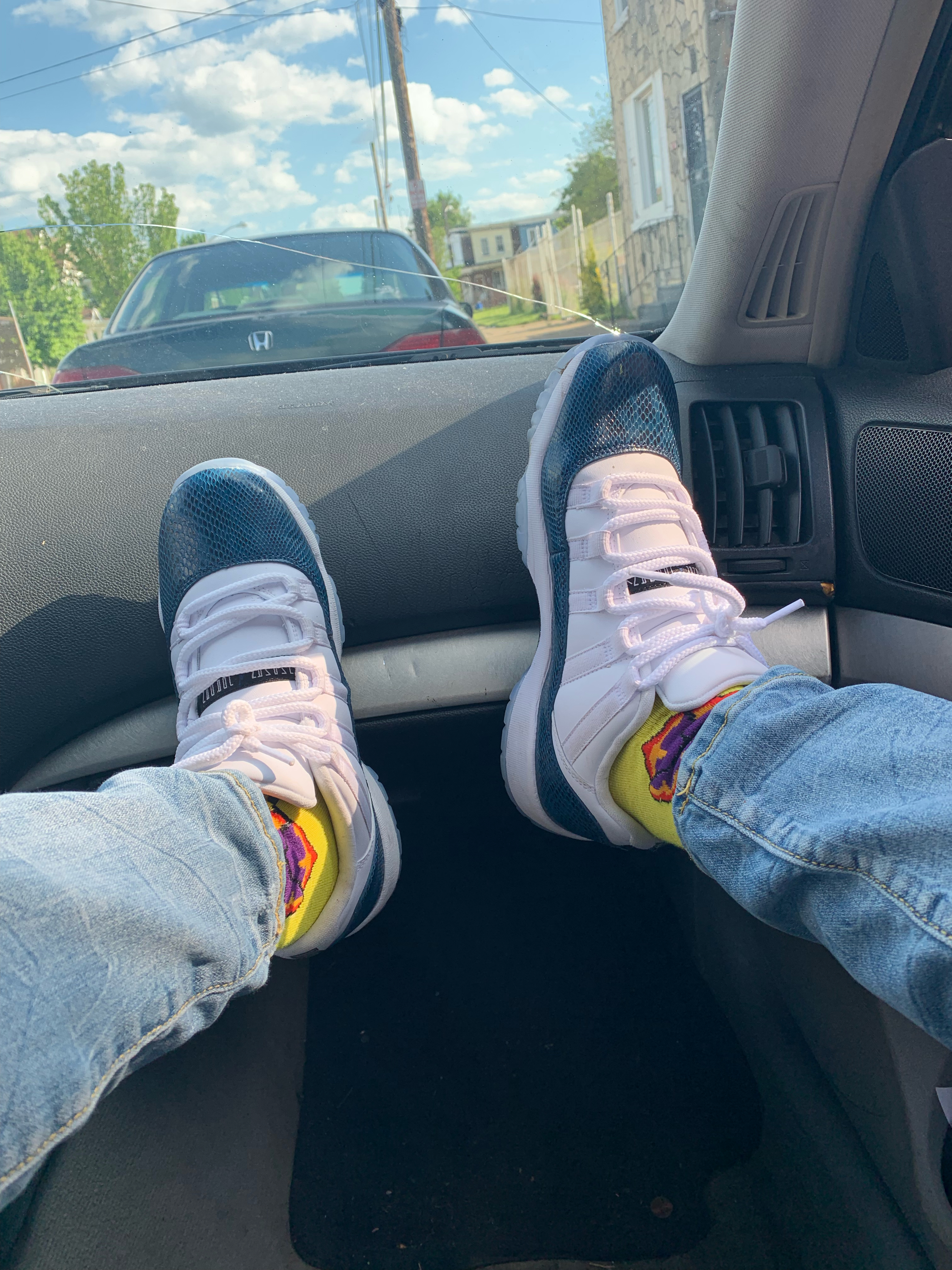 Air Jordan 11 Low Blue Snakeskin