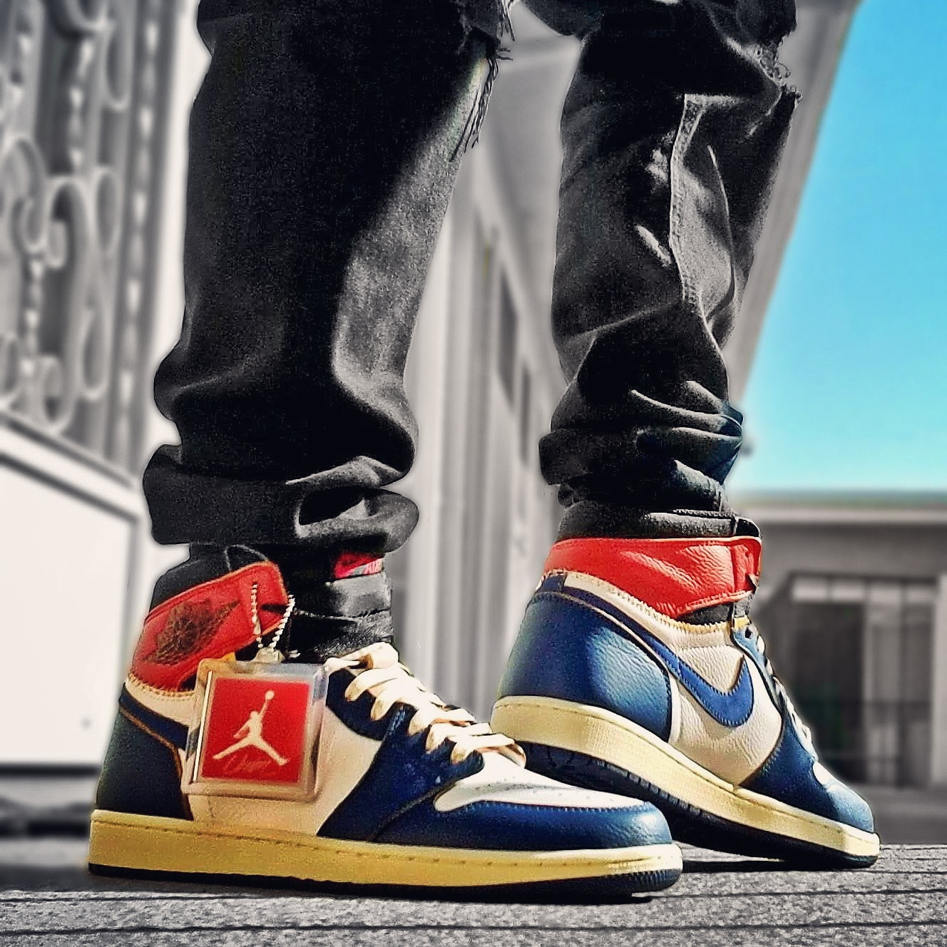 Union x Air Jordan 1 Retro High OG NRG Storm Blue