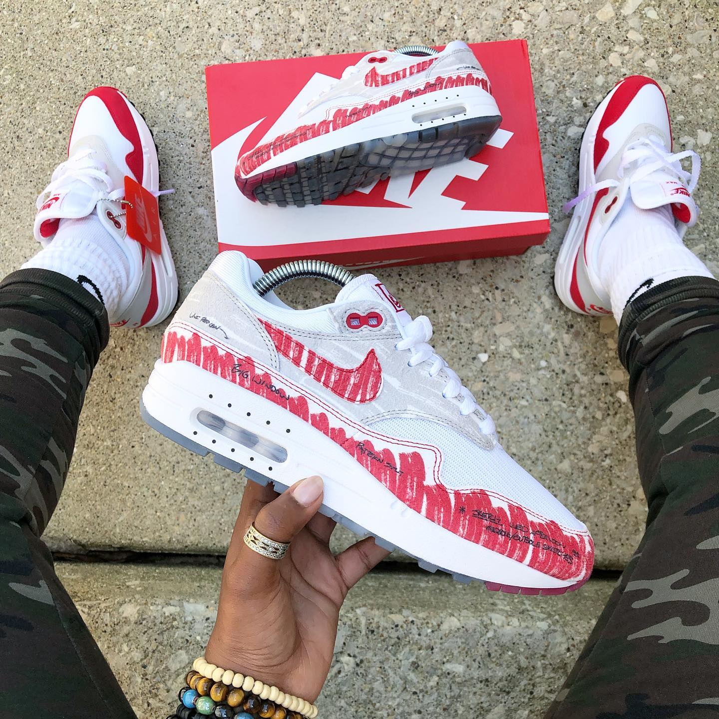 Nike Air Max 1 Sketch To Shelf University Red