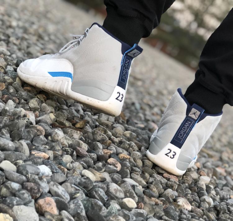 Air Jordan 12 - Grey / University Blue